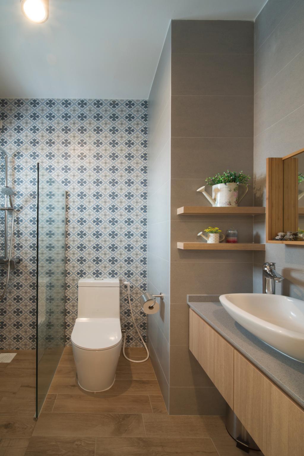 Modern, HDB, Bathroom, Ghim Moh Link, Interior Designer, Forefront Interior, Sink, Indoors, Interior Design, Room