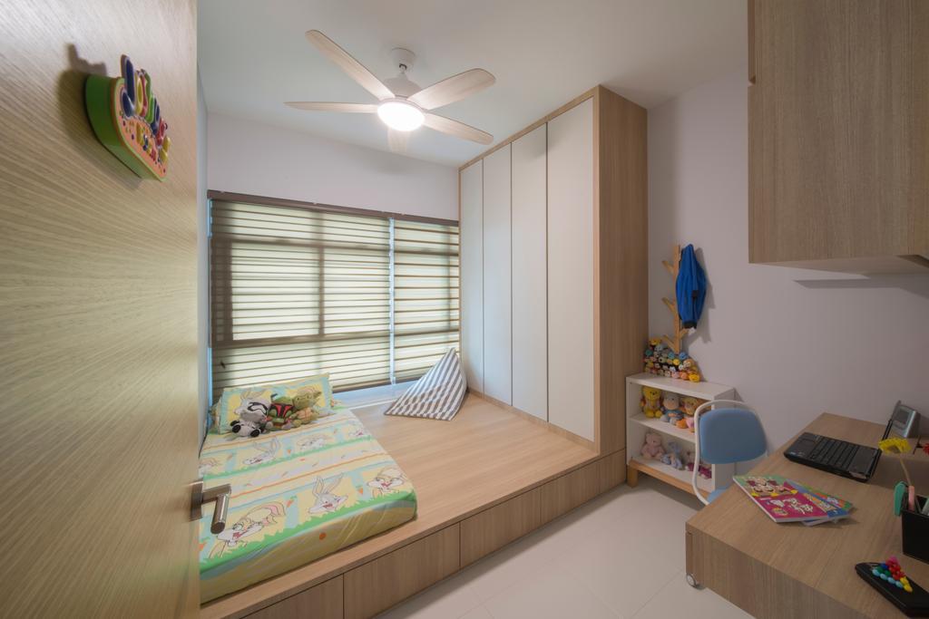Modern, HDB, Bedroom, Ghim Moh Link, Interior Designer, Forefront Interior, Light Fixture, Indoors, Interior Design, Room