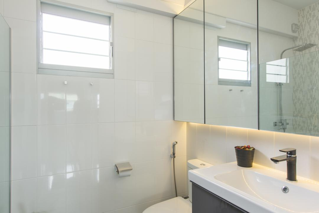 Keat Hong Close, Forefront Interior, Bathroom, HDB, Indoors, Interior Design, Room, Tub