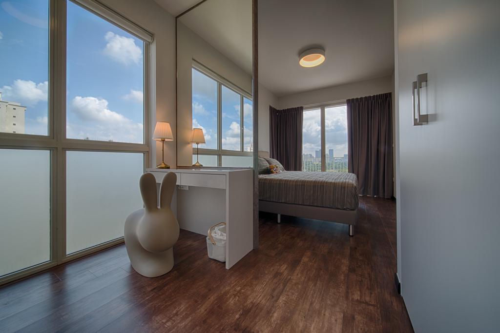 Scandinavian, Condo, Bedroom, Lake Life, Interior Designer, Forefront Interior, Flooring, Floor