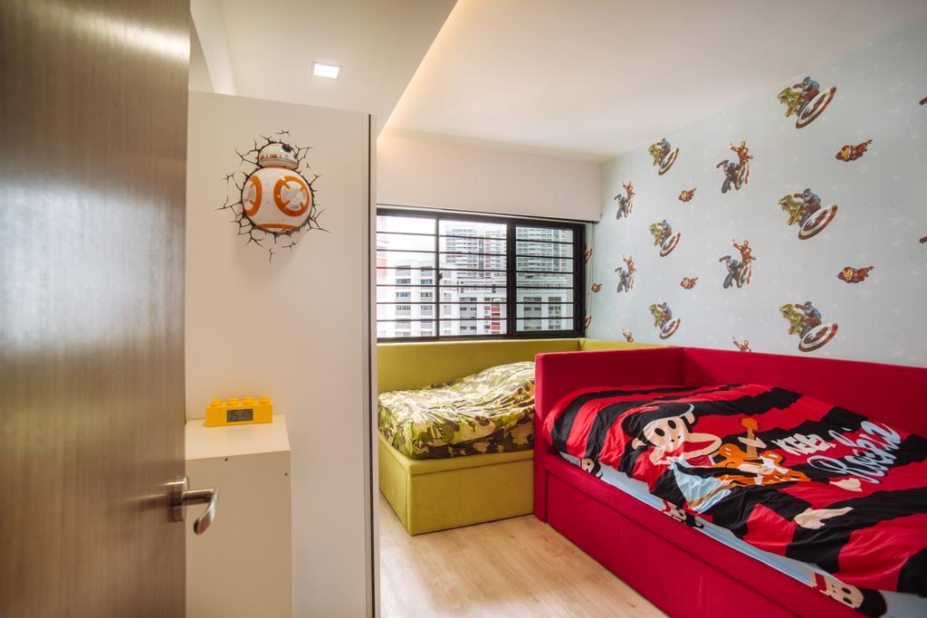 Contemporary, HDB, Bukit Batok, Interior Designer, Mink Design, Bedroom, Indoors, Interior Design, Room