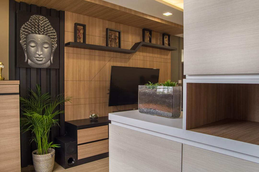 Bukit Batok, Mink Design, Contemporary, HDB, Indoors, Interior Design, Flora, Jar, Plant, Potted Plant, Pottery, Vase, Planter