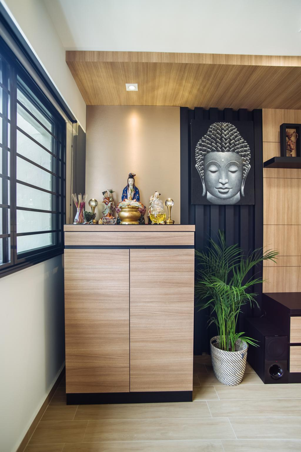 Contemporary, HDB, Bukit Batok, Interior Designer, Mink Design, Flora, Jar, Plant, Potted Plant, Pottery, Vase, Art, Buddha, Worship, Bamboo, Dill, Food, Seasoning