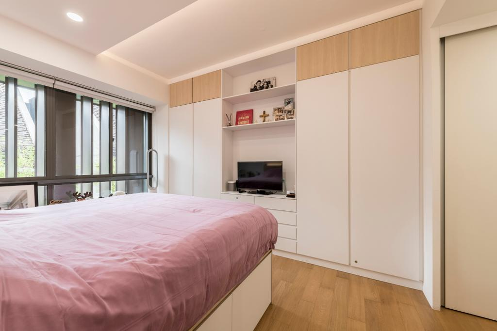 Scandinavian, Condo, Bedroom, Watten Rise, Interior Designer, ARK-hitecture, Bed, Furniture, Indoors, Interior Design, Room