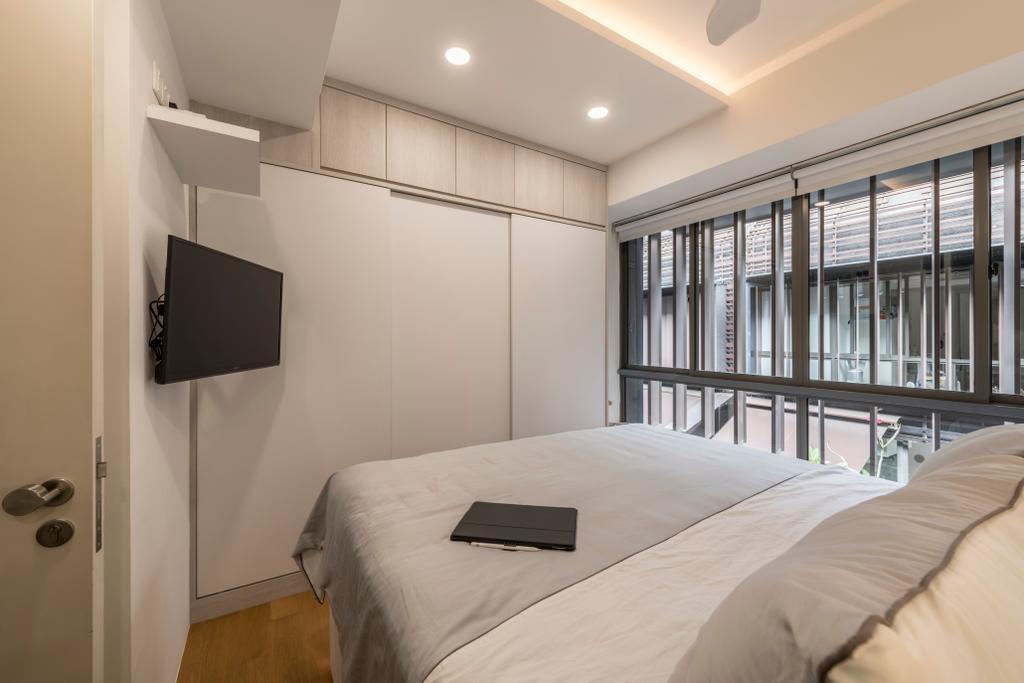 Scandinavian, Condo, Bedroom, Watten Rise, Interior Designer, ARK-hitecture, Bed, Furniture