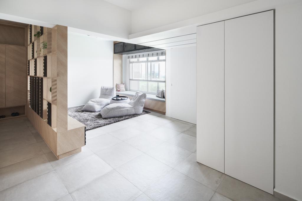 Minimalistic, HDB, Living Room, Tampines GreenForest, Architect, asolidplan, Scandinavian, Flooring, Indoors, Interior Design