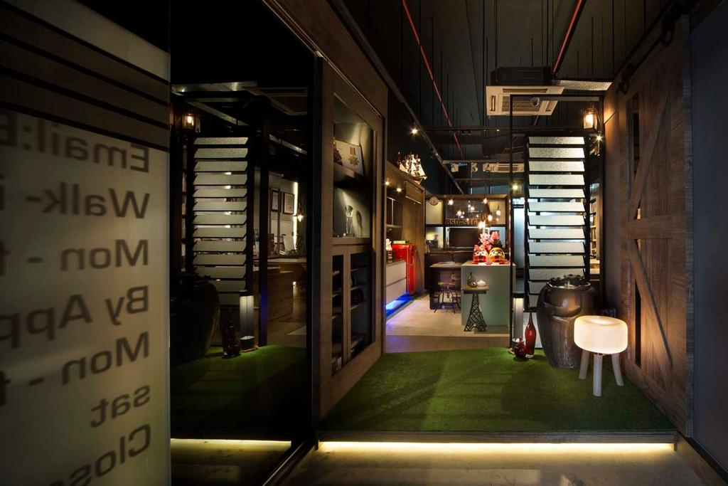 Boon Siew D'sign Showroom, Commercial, Interior Designer, Boon Siew D'sign, Industrial, Cove Light, Wood Floor, Sool