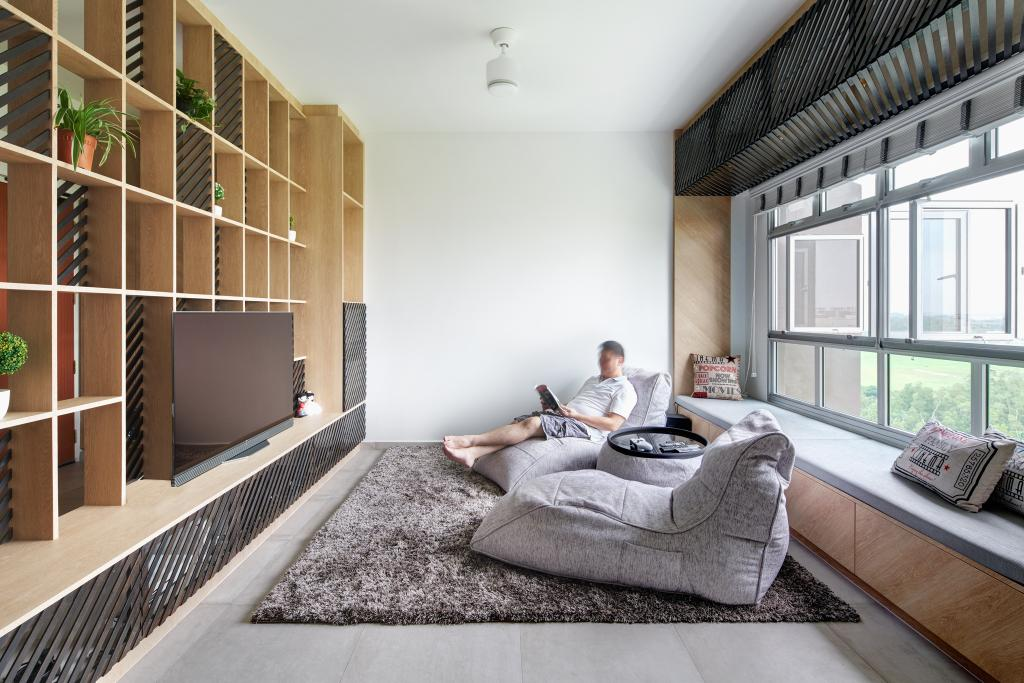 Minimalistic, HDB, Living Room, Tampines GreenForest, Architect, asolidplan, Scandinavian, Flora, Jar, Plant, Potted Plant, Pottery, Vase, Indoors, Interior Design