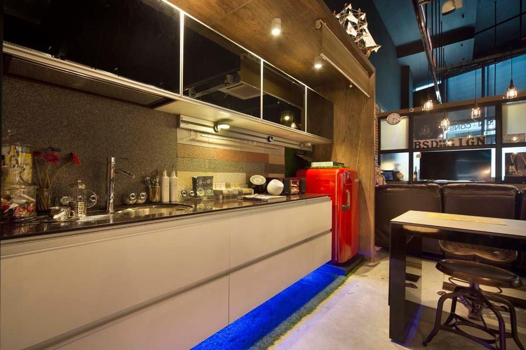 Boon Siew D'sign Showroom, Boon Siew D'sign, Industrial, Commercial, Fridge, Cabinets, Panry, Tables, Diner, Food, Meal, Restaurant