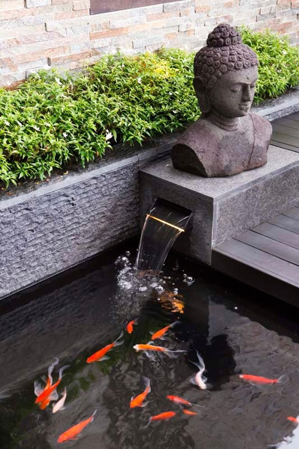 Contemporary, Landed, Garden, Pavillion Circle, Interior Designer, Boon Siew D'sign, Statue, Pond, Fish, Tomb