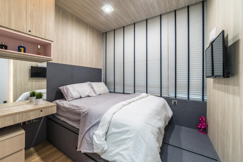 Modern, Condo, Bedroom, The Trilinq, Interior Designer, Ethereall, Bed, Furniture