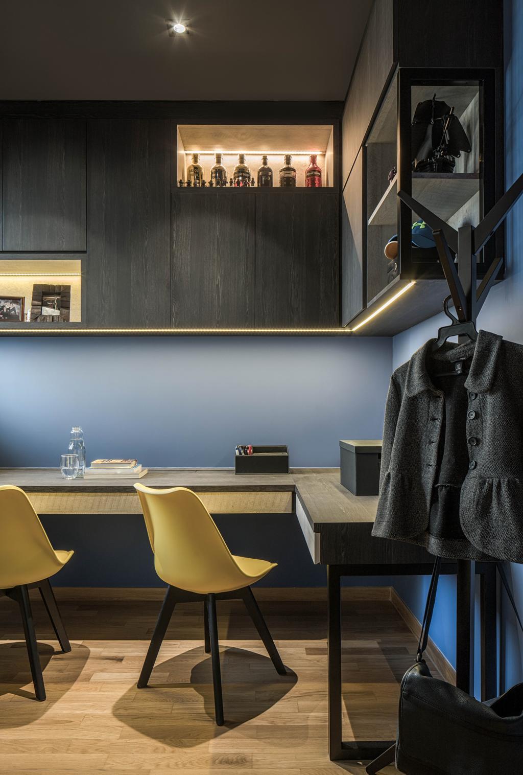 Modern, Condo, Bedroom, Bartley Residences, Interior Designer, Ethereall, Contemporary, Fireplace, Hearth