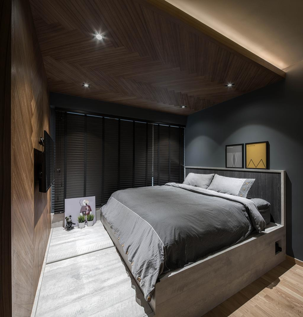 Modern, Condo, Bedroom, Bartley Residences, Interior Designer, Ethereall, Contemporary, Bed, Furniture, Indoors, Room