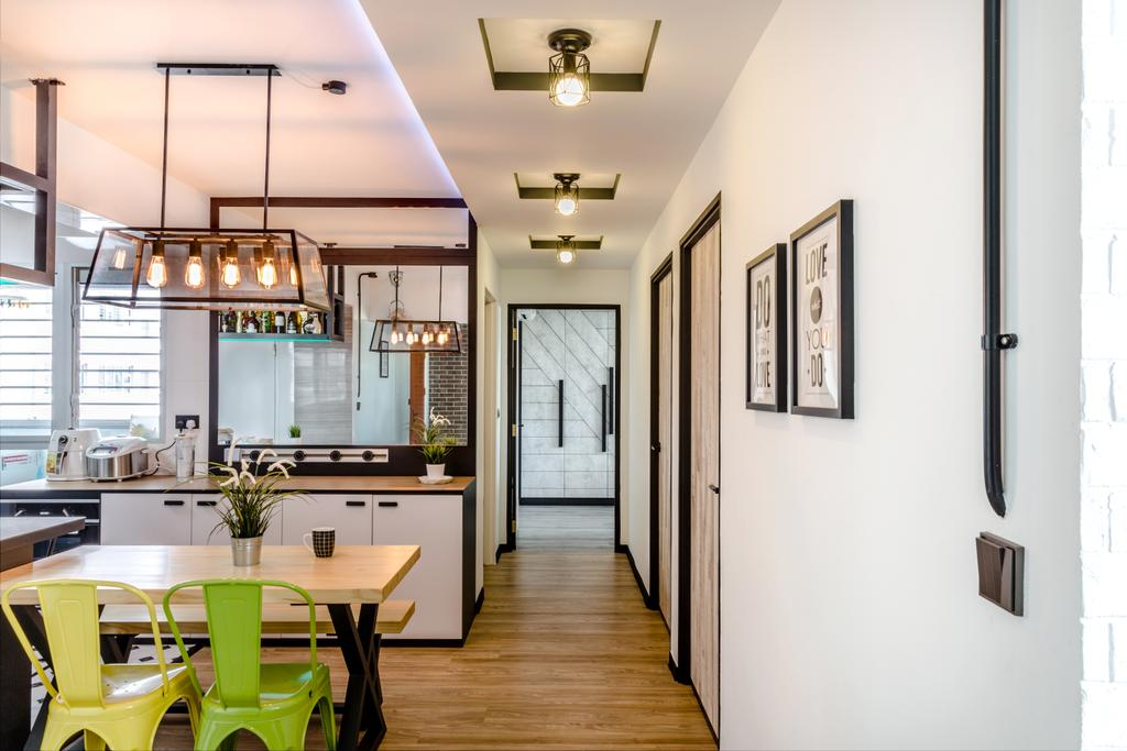 Eclectic, HDB, Living Room, Boon Lay Avenue, Interior Designer, Ethereall, Industrial, Indoors, Interior Design, Kitchen, Room, Appliance, Electrical Device, Oven, Chair, Furniture, Dining Table, Table, Dining Room