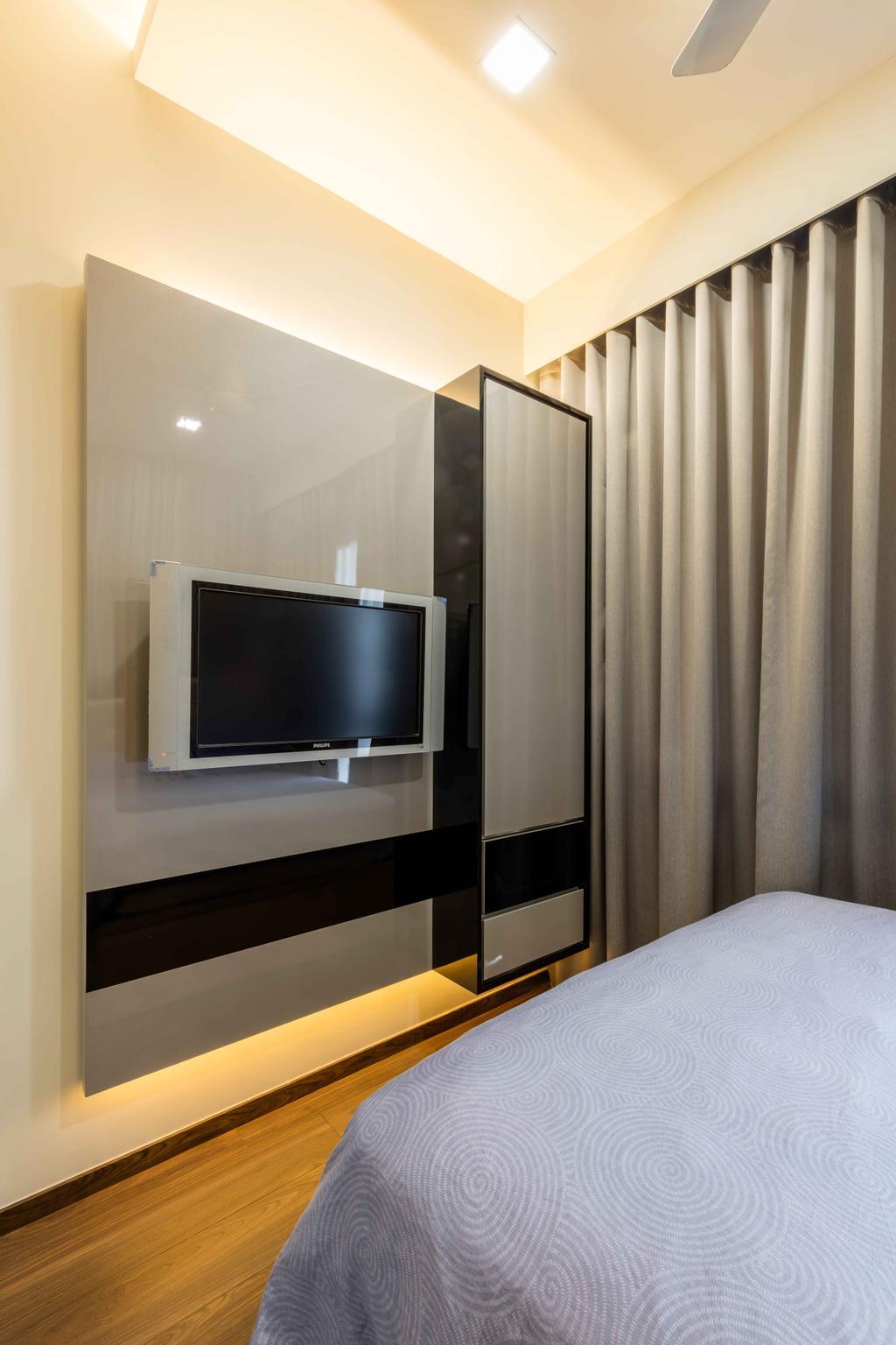 Modern, Condo, Jewel @ Buangkok, Interior Designer, Ciseern, Electronics, Monitor, Screen, Tv, Television, Entertainment Center