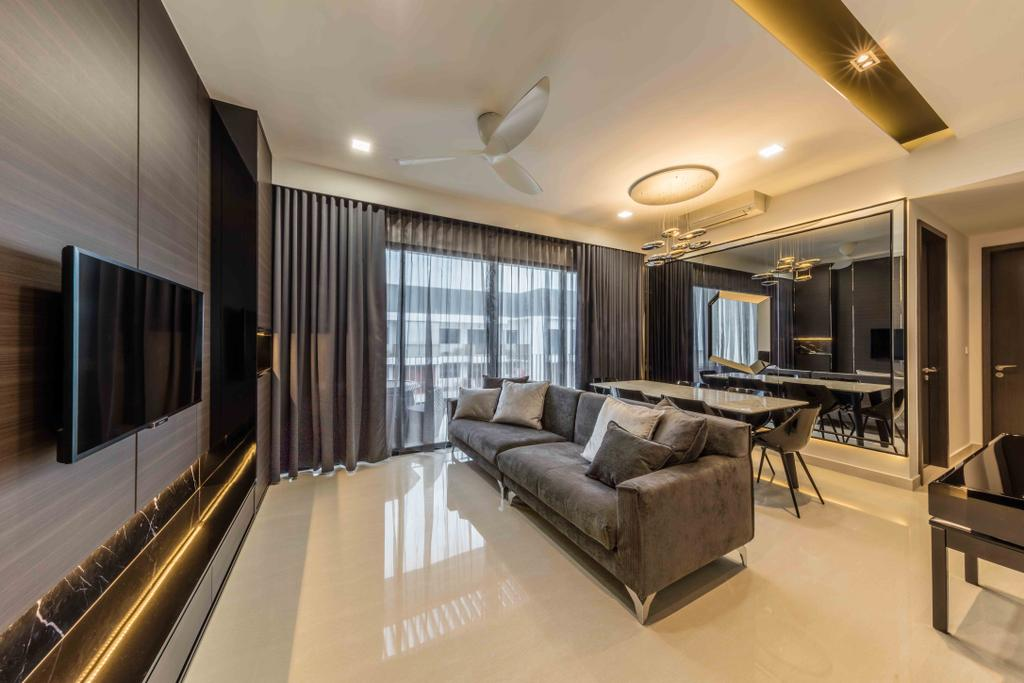 Modern, Condo, Living Room, Jewel @ Buangkok, Interior Designer, Ciseern, Couch, Furniture, Indoors, Interior Design