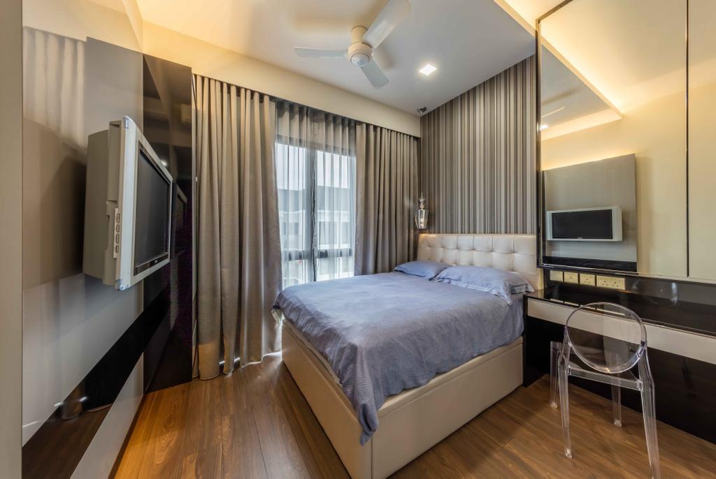 Modern, Condo, Bedroom, Jewel @ Buangkok, Interior Designer, Ciseern, Bed, Furniture, Indoors, Room