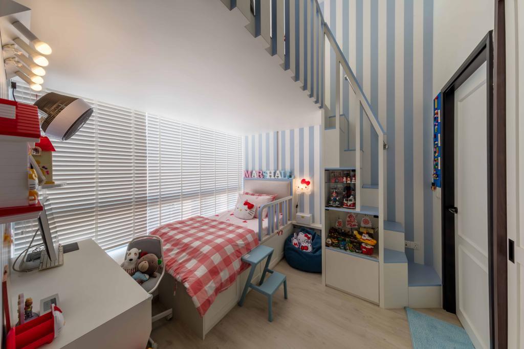 Scandinavian, Condo, Bedroom, Kembangan Suites, Interior Designer, Ciseern, Indoors, Nursery, Room
