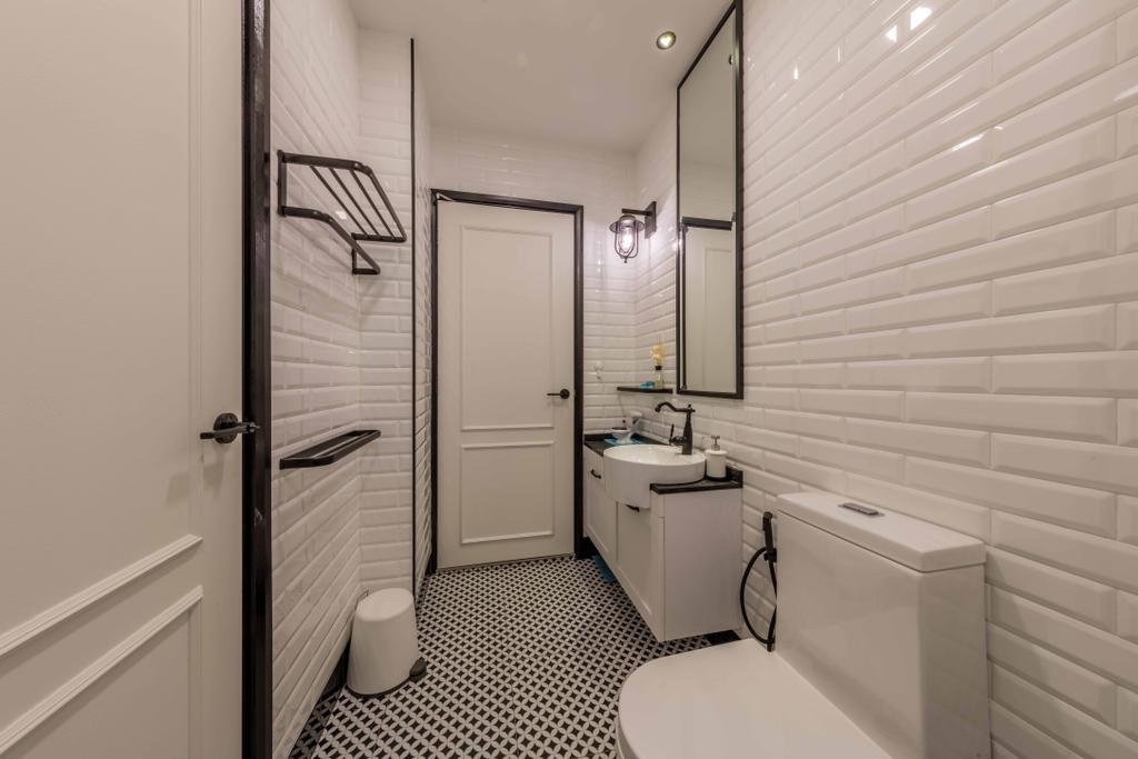 Scandinavian, Condo, Bathroom, Kembangan Suites, Interior Designer, Ciseern, Sink, Indoors, Interior Design, Room