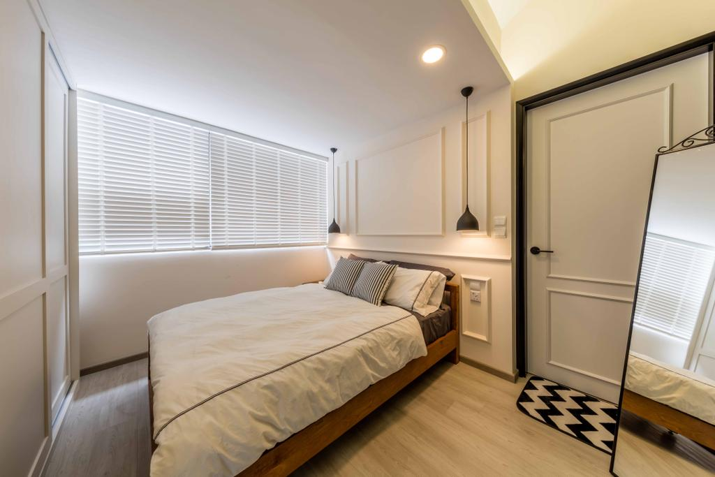 Scandinavian, Condo, Bedroom, Kembangan Suites, Interior Designer, Ciseern, Architecture, Building, Skylight, Window