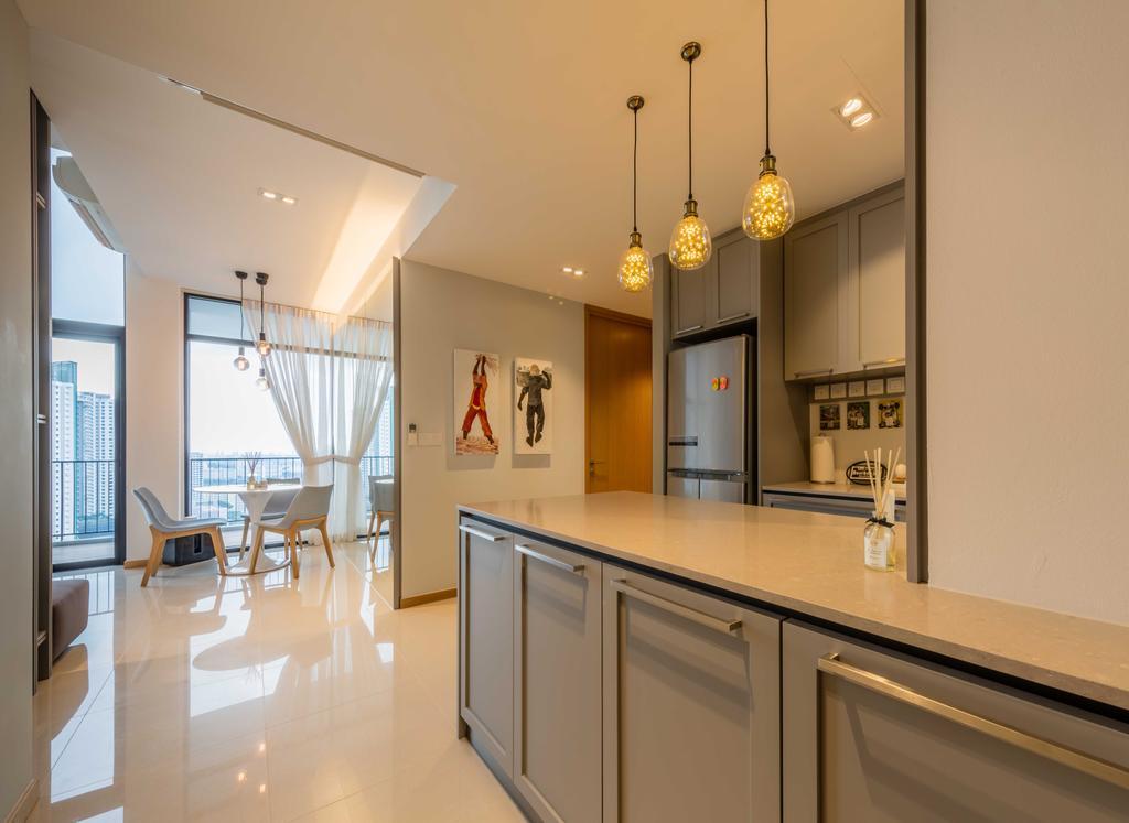 Modern, Condo, The Trilinq, Interior Designer, Ciseern, Industrial, Indoors, Interior Design, Kitchen, Room, Dining Table, Furniture, Table