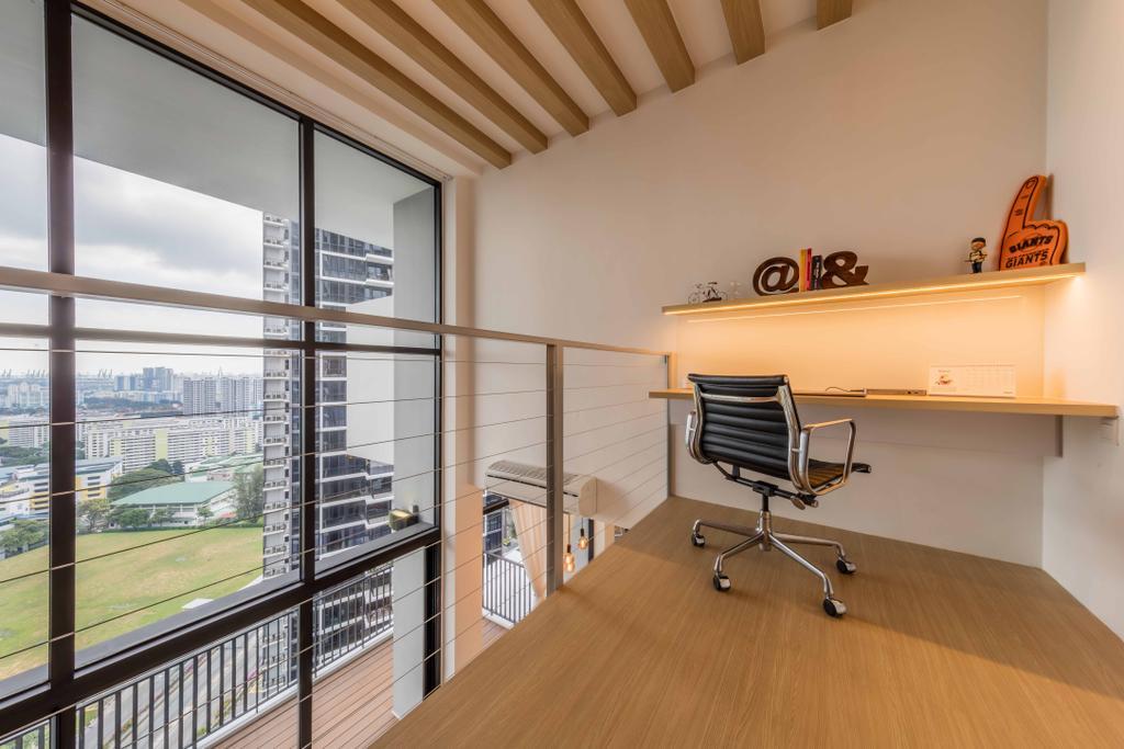 Modern, Condo, Study, The Trilinq, Interior Designer, Ciseern, Industrial, HDB, Building, Housing, Indoors, Loft, Chair, Furniture