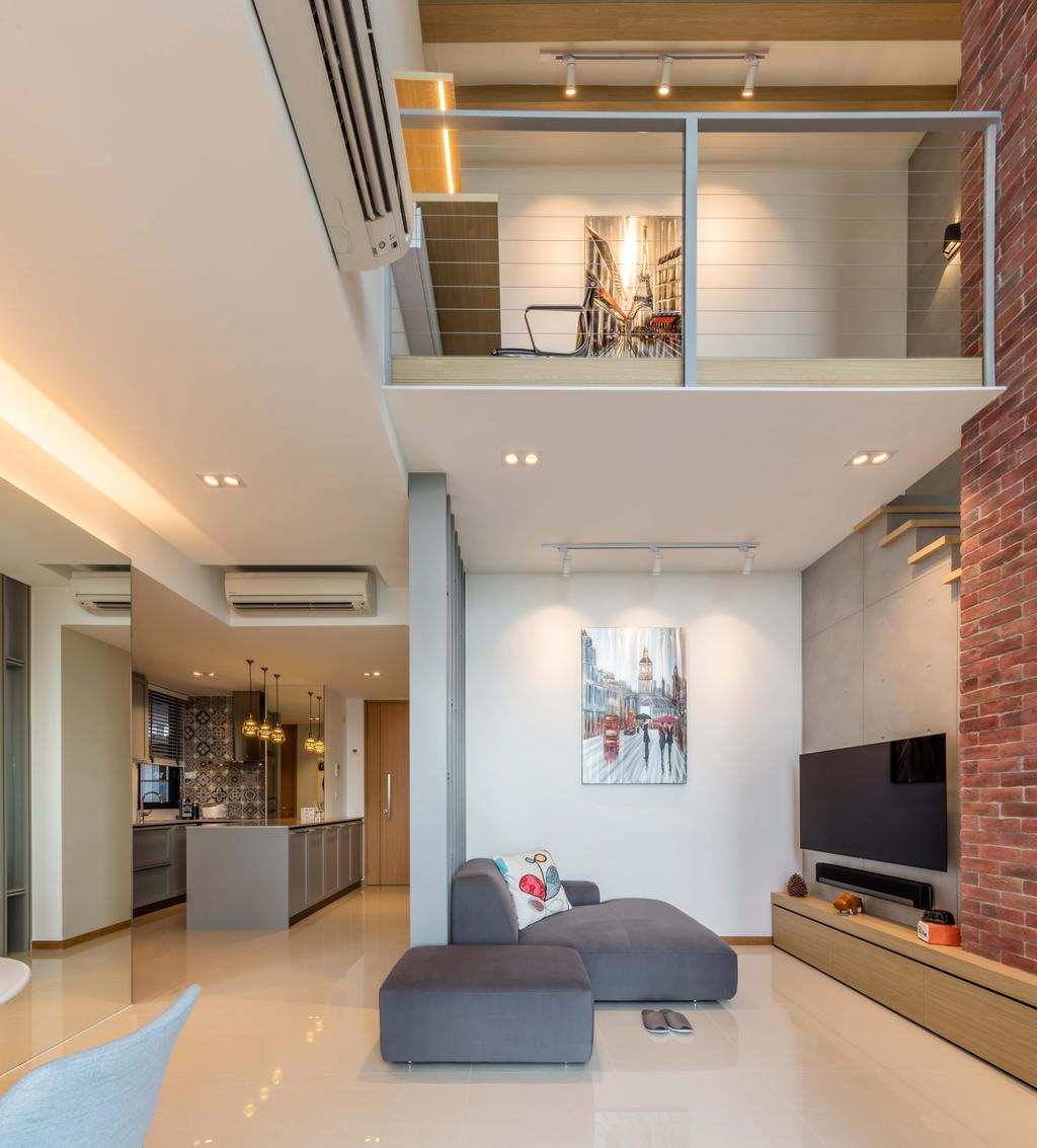 Modern, Condo, Living Room, The Trilinq, Interior Designer, Ciseern, Industrial, Loft, HDB, Building, Housing, Indoors