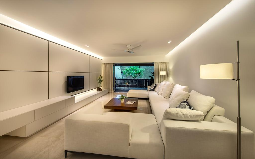 Modern, Landed, Living Room, Mount Sinai Rise, Interior Designer, Ciseern, Couch, Furniture, Indoors, Room