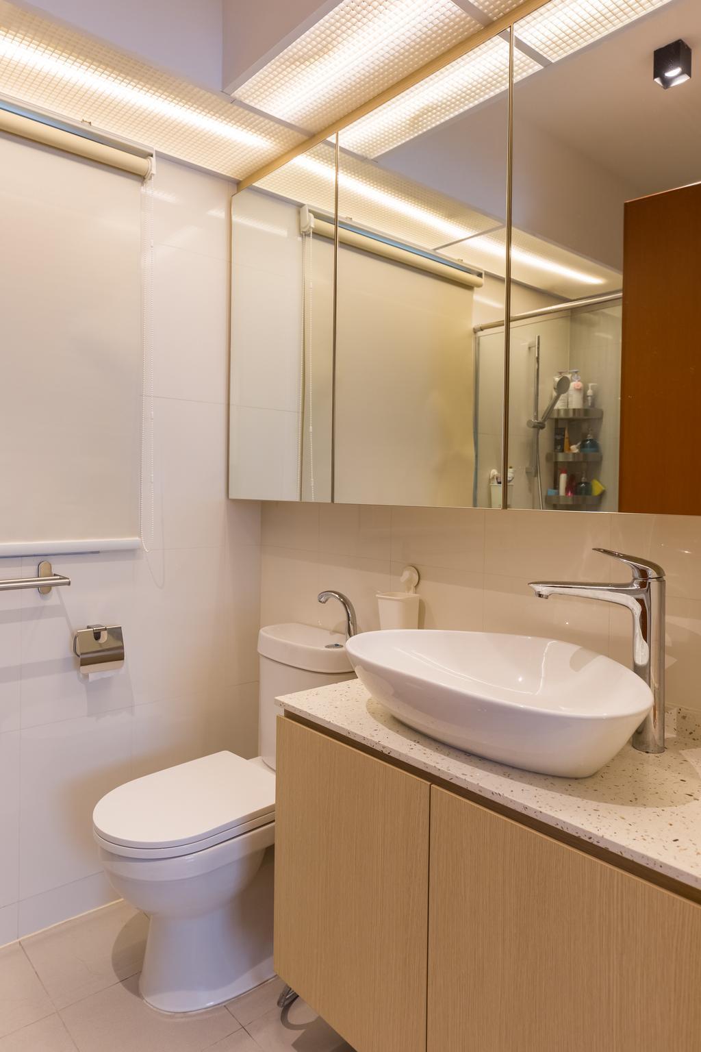 Modern, HDB, Bathroom, Sumang Lane, Interior Designer, D5 Studio Image, Sink, Indoors, Interior Design, Room