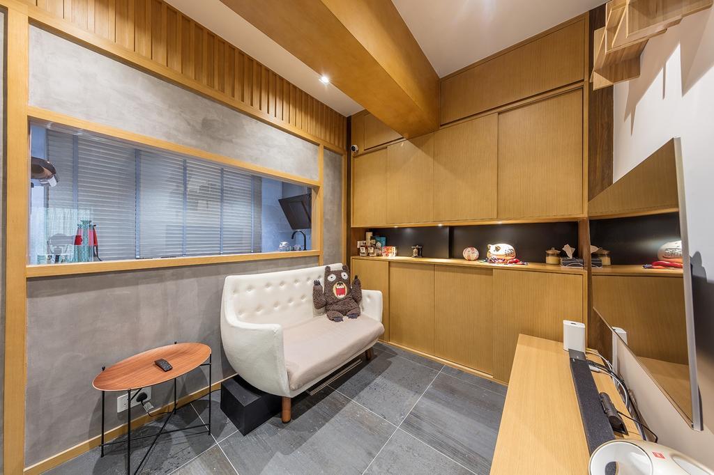 摩登, 私家樓, 客廳, 城暉大廈, 室內設計師, am PLUS, 簡約, Indoors, Interior Design, Chair, Furniture