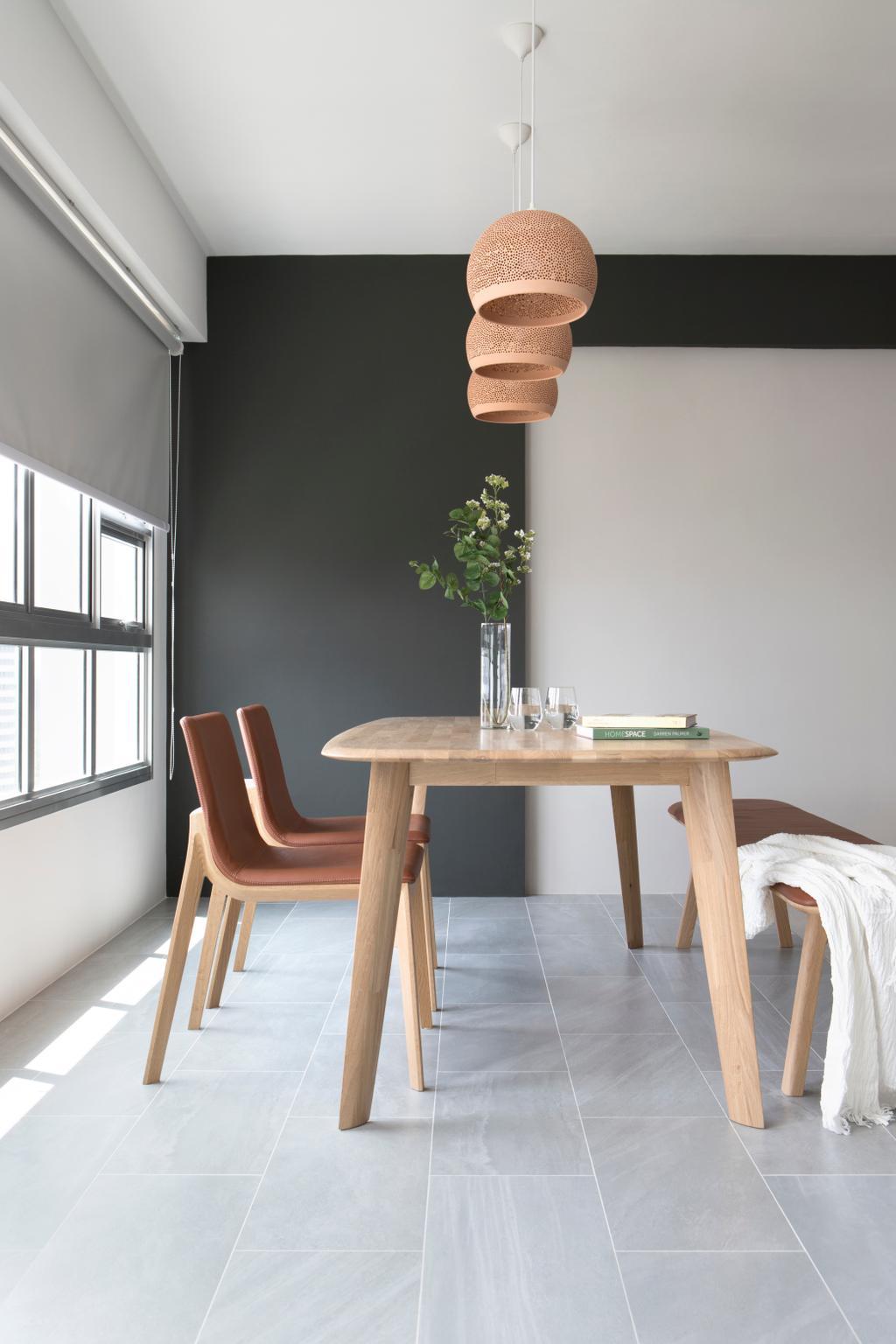Minimalist, HDB, Dining Room, Ang Mo Kio Street 21, Interior Designer, The Scientist, Chair, Furniture, Dining Table, Table, Bar Stool, Indoors, Interior Design, Room