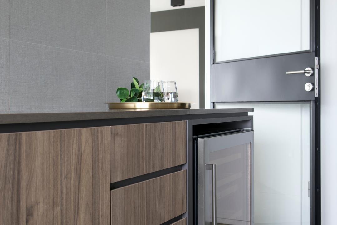 Ang Mo Kio Street 21, The Scientist, Minimalistic, Kitchen, HDB, Mirror, Appliance, Electrical Device, Fridge, Refrigerator, Furniture, Sideboard