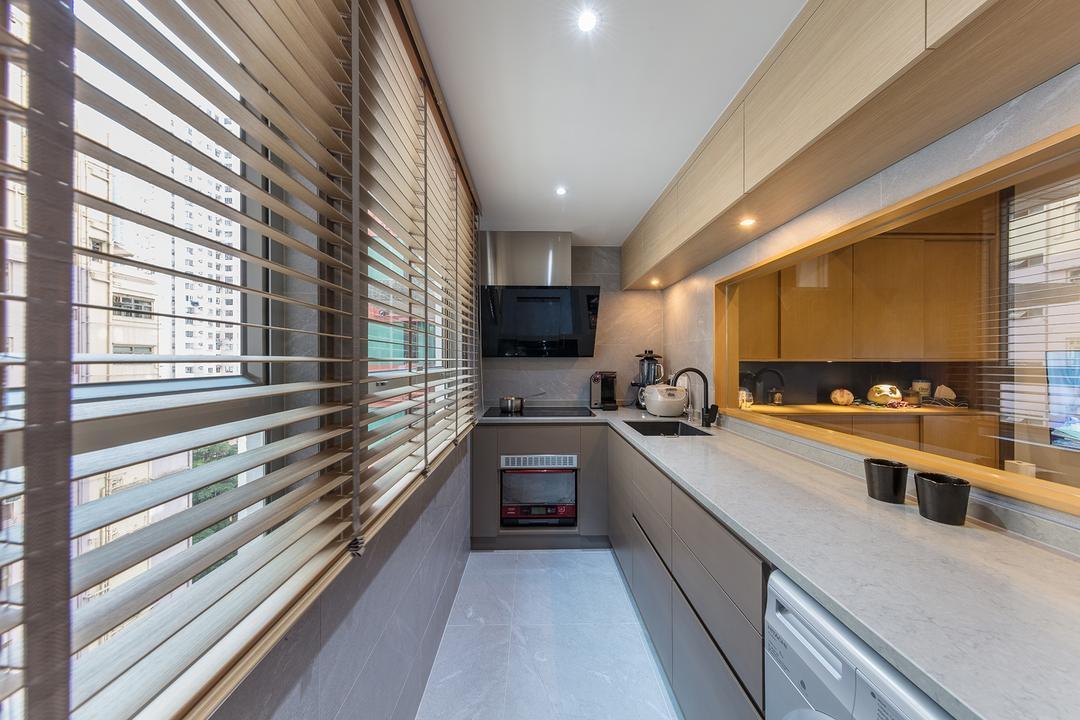 城暉大廈, am PLUS, 摩登, 簡約, 廚房, 私家樓, Appliance, Electrical Device, Oven, Indoors, Interior Design