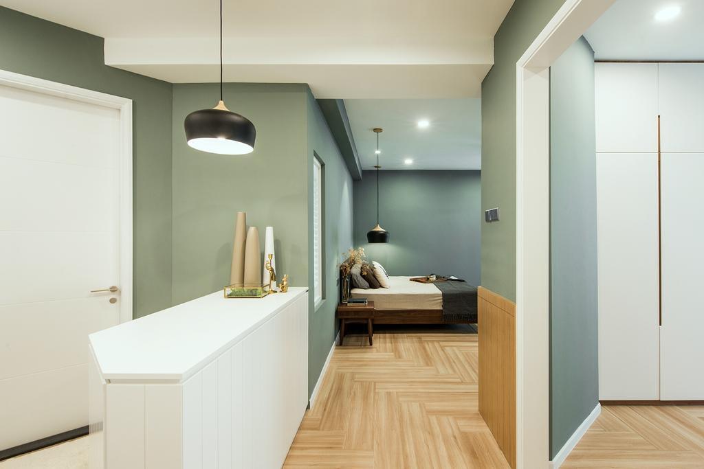 Minimalistic, Condo, Living Room, Araville, Interior Designer, Pocket Square, Indoors, Interior Design, Flooring, Bathroom, Room