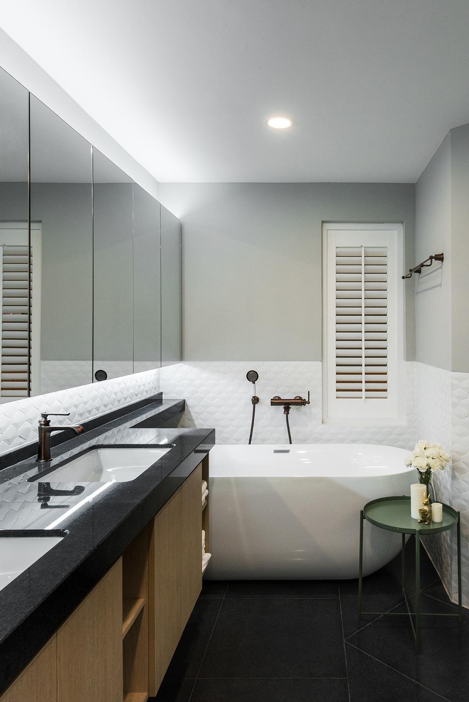 Minimalistic, Condo, Bathroom, Araville, Interior Designer, Pocket Square, Bathtub, Indoors, Interior Design, Room