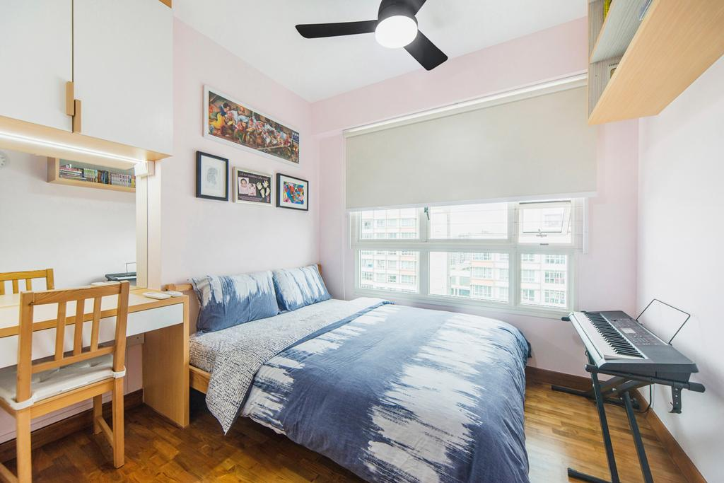 Scandinavian, HDB, Bedroom, Punggol Drive, Interior Designer, Cozy Ideas Interior Design, Chair, Furniture, Indoors, Interior Design, Room