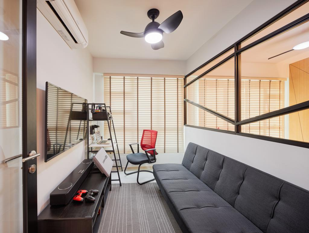 Contemporary, HDB, Boon Lay View, Interior Designer, Absolook Interior Design, Couch, Furniture, Bathroom, Indoors, Interior Design, Room, Chair, Sink