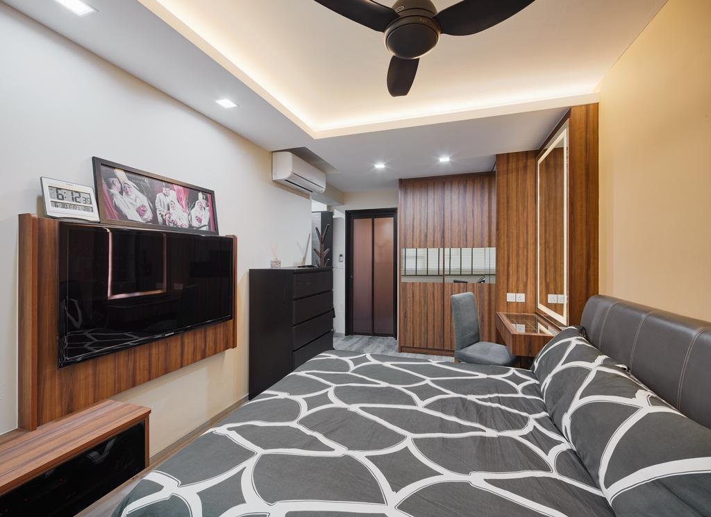 Contemporary, HDB, Boon Lay View, Interior Designer, Absolook Interior Design, Bed, Furniture