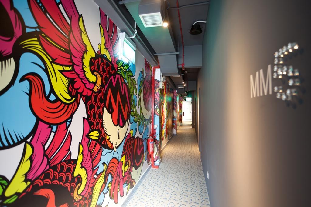 Mori Hostel, Commercial, Architect, 7 Interior Architecture, Contemporary, Graffiti, Wall Art, Walk Way, Logo, Corridor
