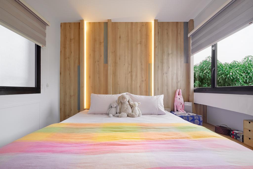 Minimalist, HDB, Choa Chu Kang Crescent, Interior Designer, Absolook Interior Design, Window, Bed, Furniture, Indoors, Room, Bedroom, Interior Design