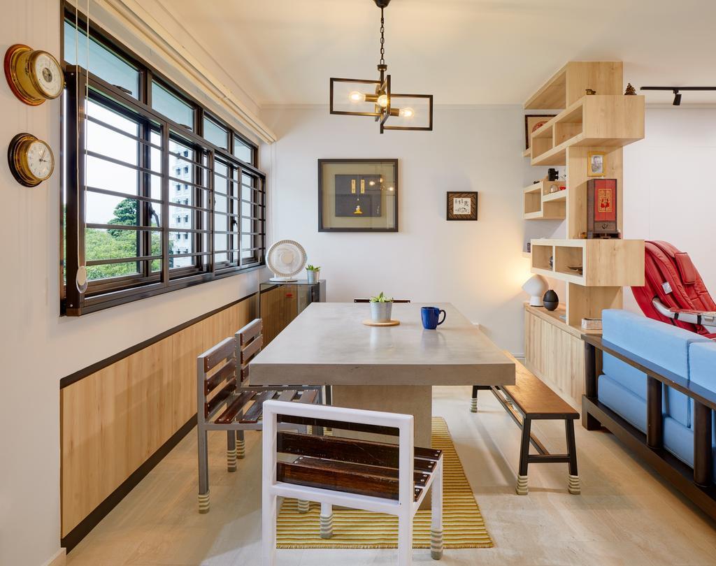 Minimalist, HDB, Choa Chu Kang Crescent, Interior Designer, Absolook Interior Design, Dining Room, Indoors, Interior Design, Room, Dining Table, Furniture, Table