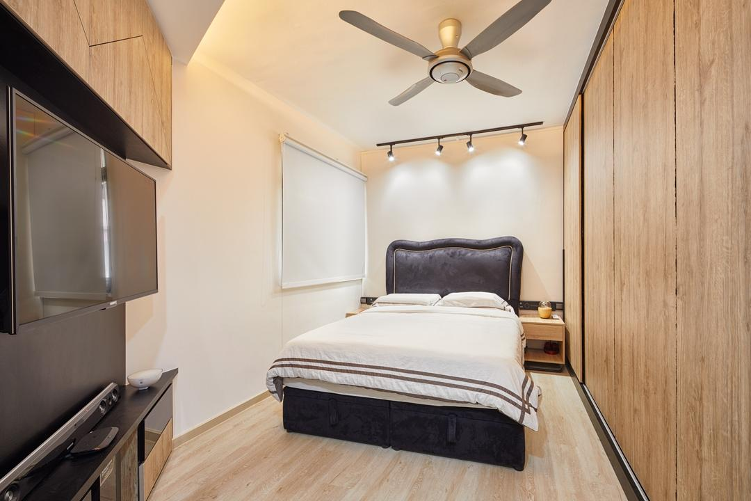Compassvale South Gate, Absolook Interior Design, Modern, Bedroom, HDB, Bed, Furniture, Light Fixture, Indoors, Interior Design, Room, Arch, Arched, Architecture, Building, Vault Ceiling