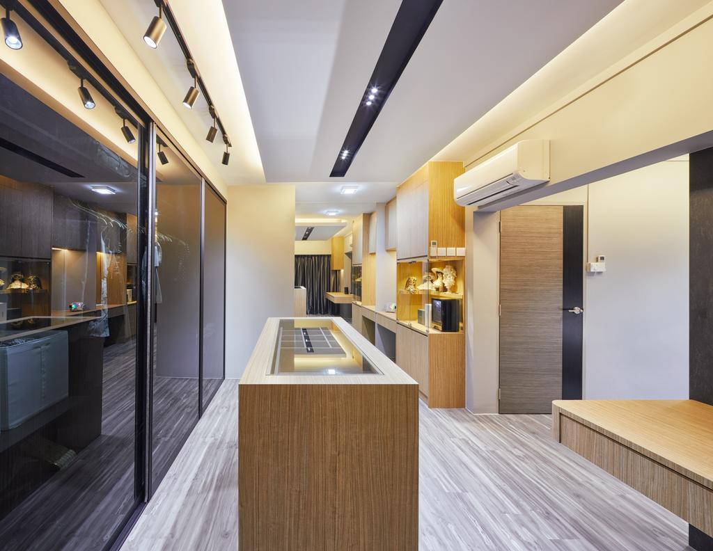 Modern, HDB, Kitchen, Tampines Palmspring, Interior Designer, Absolook Interior Design, Contemporary, Appliance, Electrical Device, Oven, Flooring, Corridor