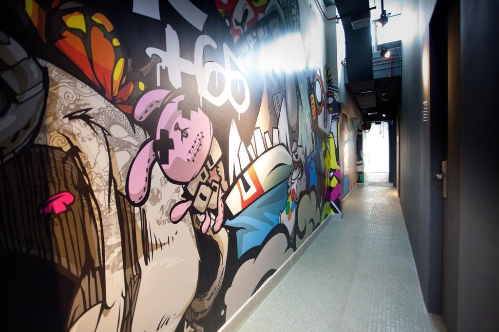Mori Hostel, Commercial, Architect, 7 Interior Architecture, Contemporary, Graffiti, Walk Way, Wall Art, Corridor