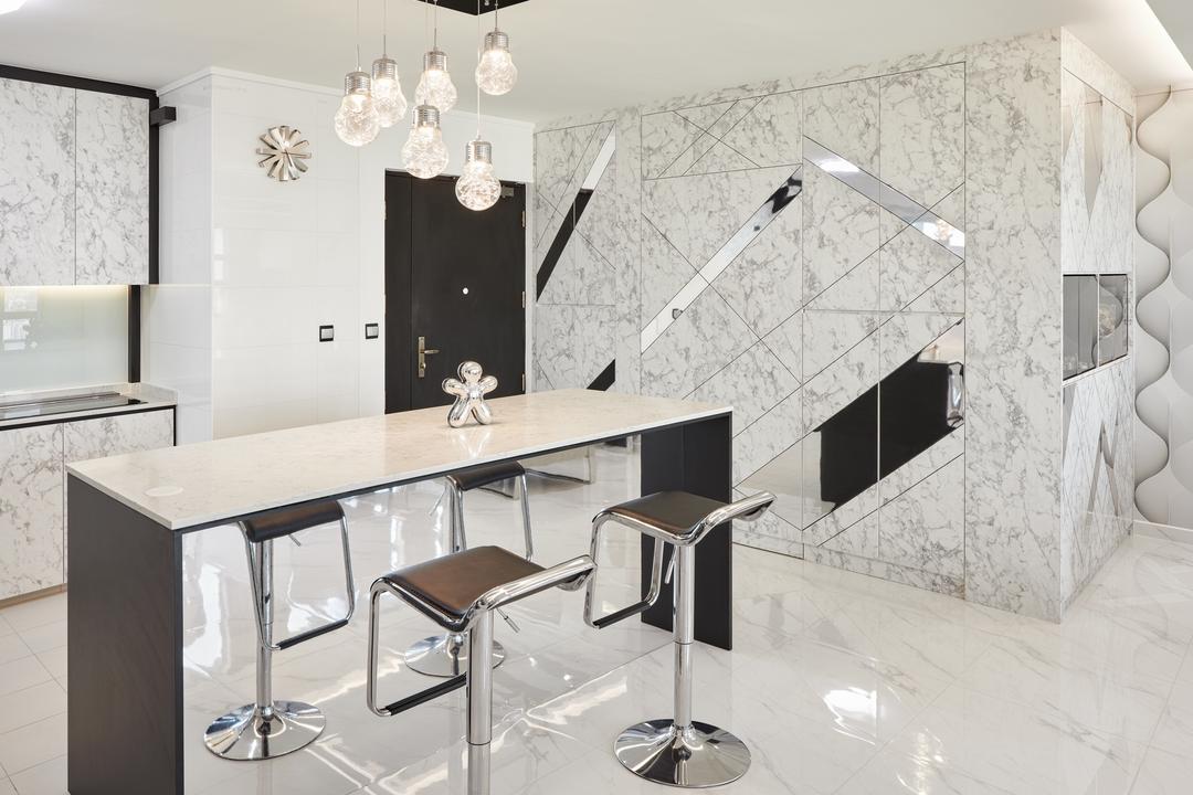 Teck Ghee Parkview, Absolook Interior Design, Modern, HDB, Chair, Furniture, White Board