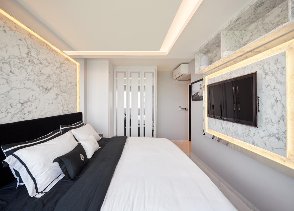 Modern, HDB, Teck Ghee Parkview, Interior Designer, Absolook Interior Design, Bedroom, Indoors, Interior Design, Room, Bed, Furniture