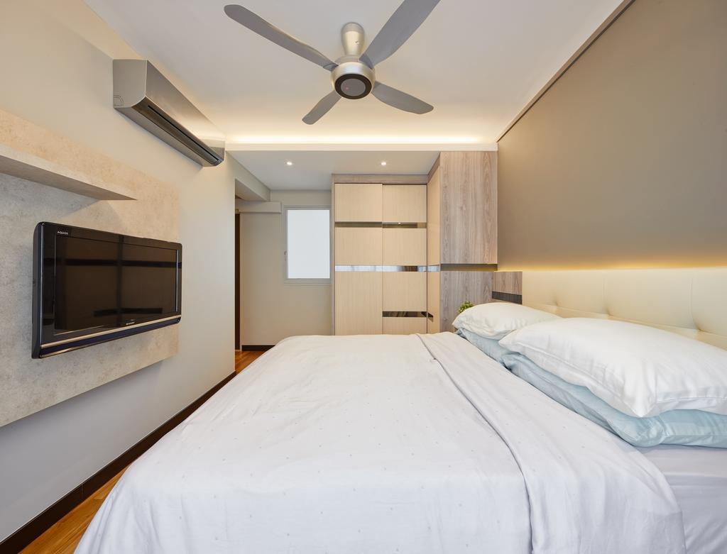 Modern, HDB, Bedroom, The Verandah @Matilda, Interior Designer, Absolook Interior Design, Propeller, Bed, Furniture, Indoors, Room