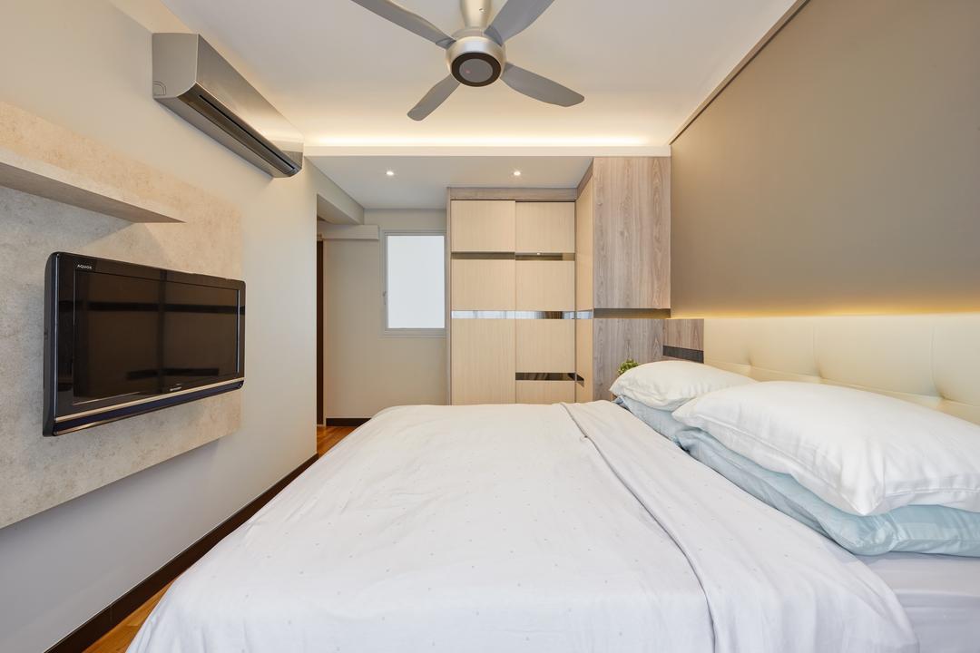 The Verandah @Matilda, Absolook Interior Design, Modern, Bedroom, HDB, Propeller, Bed, Furniture, Indoors, Room