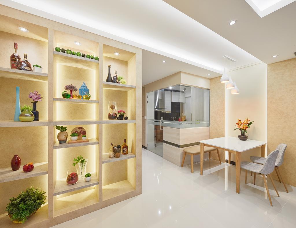 Modern, HDB, Dining Room, The Verandah @Matilda, Interior Designer, Absolook Interior Design, Dining Table, Furniture, Table, Indoors, Interior Design