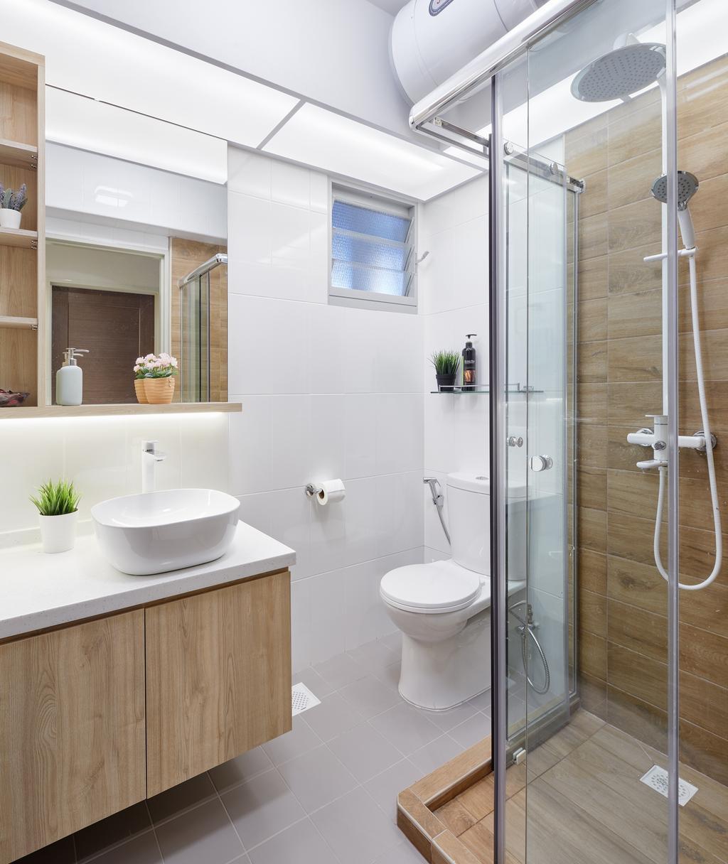 Modern, HDB, Bathroom, The Verandah @Matilda, Interior Designer, Absolook Interior Design, Plumbing, Shower, Indoors, Interior Design, Room, Toilet